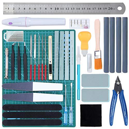 Hseamall 38 Stück Guandam Modell-Werkzeug-Set, Hobby-Handwerkzeug, Bastelset, Modellierer, Grundwerkzeuge für Bandai Hobby Gundam Auto Modellbau reparieren