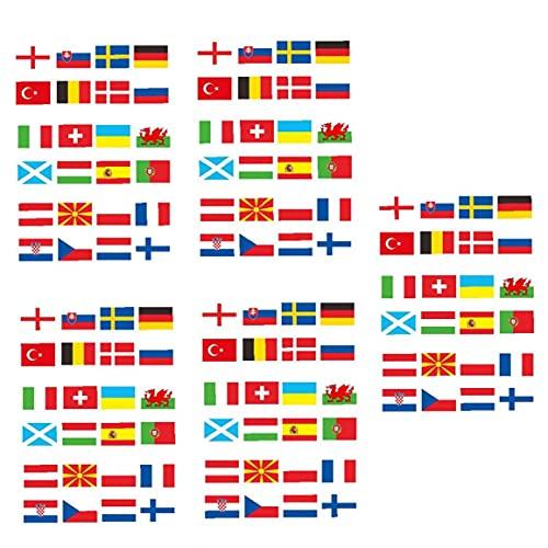 24 Countries String Flag 2021 European Football Championship Banner Decor 8m 5PCS for Team Exercise