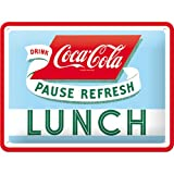 Nostalgic-Art 26223, Coca-Cola-Lunch, Blechschild 15x20 cm,