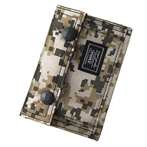 JOSEKO Portefeuilles pour garçons, Portefeuilles à Motif Camouflage à Deux Volets, Portefeuilles légers de Mode à Bouton-Pression pour Hommes, Cadeaux d'anniversaire pour Adolescents de récompense