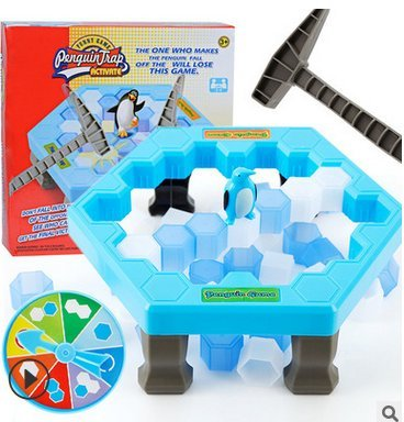 1 juego de pingüino salvador, trampa de pingüino rompiendo hielo juego para...