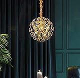 APBEAM Modern Crystal Sputnik Chandeliers Gold Pendant Light Dandelion Light Fixture for Bedroom Foyer Closet 9 Lights