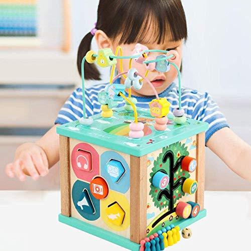 Shhjjyp Juguetes Montessori Mesa Actividade Madera Cubo De Actividades Infantil Abaco Infantil Torre De Aprendizaje Juegos Educativos De Ciencias Bebés Niños 3 4 5 Niñas