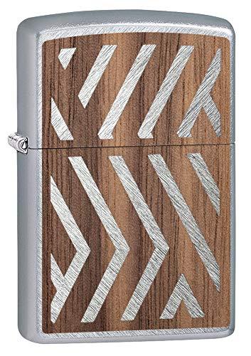 Zippo Unisex Woodchuck Sweep Walnut Emblem Sturmfeuerzeug Chrom Regular