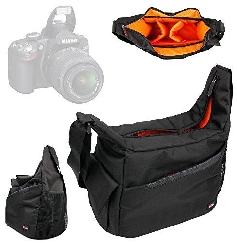 DURAGADGET Mochila con Compartimentos con Bandolera Ajustable para Cámara Nikon D3200 Bandolera Al Agua