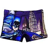 alles-meine.de GmbH Badehose / Badeshorts - Batman - Größe 8 bis 9 Jahre - Gr. 134 bis 140 - für Jungen Kinder Badepants - Boxershorts Shorts mit Bein - Pants - Badeshort - Bruce..