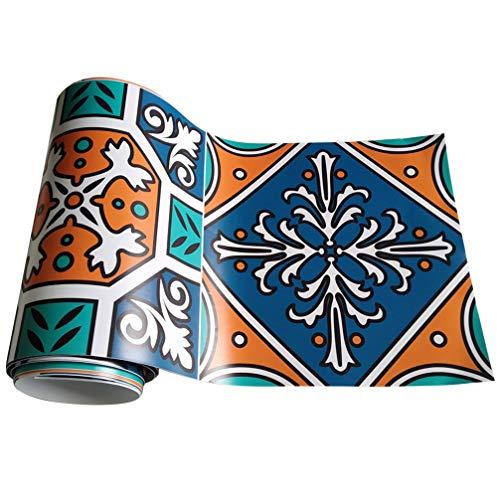 IMIKEYA 20 X 500 Cm Hoge Kwaliteit Woondecoratie Behang Europese Zelfklevende Waterdichte Muurstickers 3D Muurstickers Voor Winkel Bar (Olijfgroen)