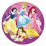 Dekora- Disco Comestible para Decoración de Tartas de Cumpleaños de Princesas Disney-16 cm (231363)