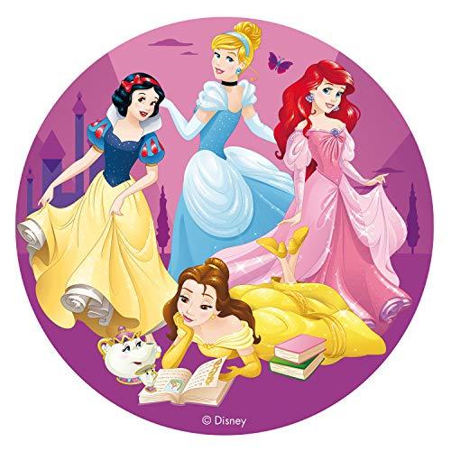 Dekora 231363 Disney Prinzessinnen Tortenaufleger aus zuckerfreiem Esspapier-16 cm