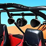 GoHawk TN4-SX 2.1 Channel Amplifier 5' Subwoofer 4.5' Full Range Waterproof Bluetooth ATV RZR UTV Stereo 3 Speakers Audio Amp Radio System 1.5 to 2' Roll-cage Bar Mount Yamaha Polaris 4 Wheeler Can-Am