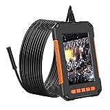 Ashley GAO Mini impermeable cable de inspección HD1080P cámara 8MM USB endoscopio boroscopio 8 luces LED 4.3 pantalla 2/5/10 m opciones