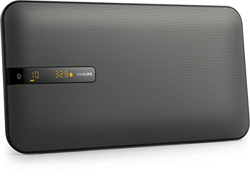 Philips BTM2660 Flat Stereoanlage mit Multipair (Bluetooth, UKW, Wandmontage, 20 Watt) schwarz