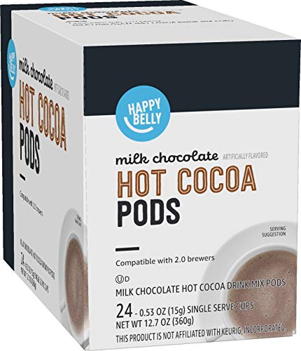 Amazon Brand - Happy Belly Hot Cocoa Pods Compatible with 2.0 K-Cup...