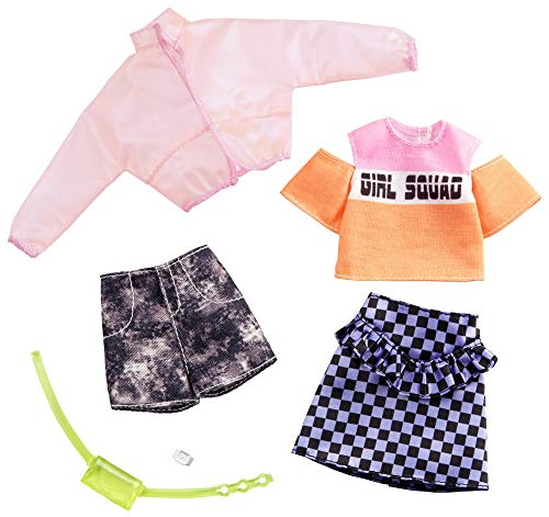Barbie-GHX58 Pack de accesorios de moda chaqueta