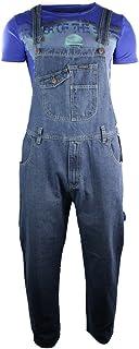 Mens Dungarees Jeans Light Blue Stone Wash Pocket Design