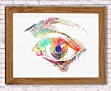 Human Eye Anatomy Watercolor Poster Art Print Human Iris and Pupil Structure Office Decor Medical Decor Ophthalmology Optometry Abstract Anatomy Art