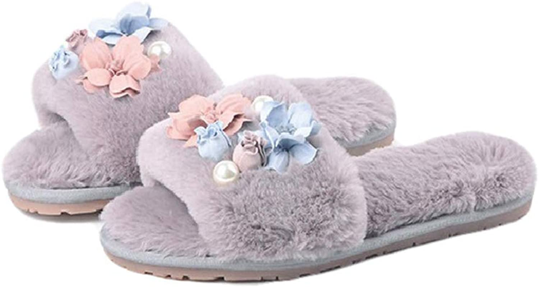 York Zhu Slippers for Women,Slip-on Home Slippers Memory Foam Plush Lining Indoor shoes