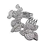 Luxus tiara de la boda peine orquídeas cristal nupcial accesorios para el cabello plata Rhinestone...