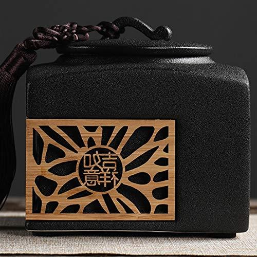 Vorratsdosen Keramik, Kaffeedose Frischhaltedose mit Luftdicht Deckel, Vorratsdose Vorratsgläser Kaffeebehälter Teedosen Küche Aufbewahrungsbox für Tee Kaffee Bohne Zucker Gewürz Nüsse, 1l, weiß