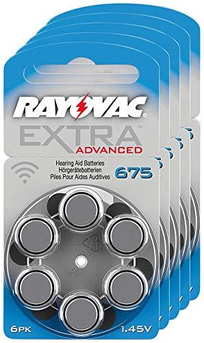 classement un comparer RAYOV AC67 5 sets 6 piles supplémentaires pour prothèses auditives 1.45V 640 mAh
