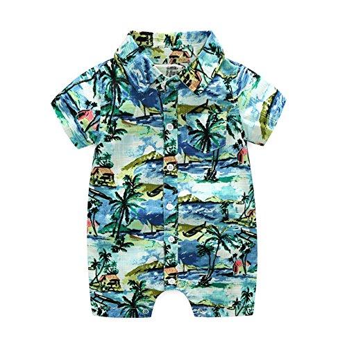 Loveble Body Strampler Baby Junge kurzen Ärmeln Strand Urlaub Hawaii für 0-24 Monate