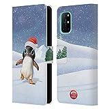 Head Case Designs Licenciado Oficialmente Animal Club International Penguin Animals Carcasa de Cuero Tipo Libro Compatible con OnePlus 8T 5G