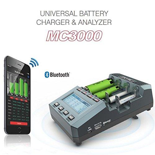 HELEISH MC3000 Smart Bluetooth App Control Multi-Chemistry Cargador de batería Universal Piezas de Montaje de Bricolaje