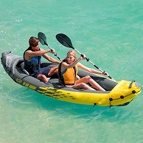 51aDOKV7oUL. SS500  - N/O Inflatable Kayak 2 Person, Kayak Set with Aluminum Oars and High Output Air Pump