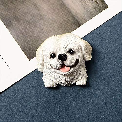 Lindos imanes de nevera 2 unids 3D Frigorífico Imán Puppy Dibujos animados Perro doméstico Lindo Animal Mensaje Creativo Post Creative Image Refrigerador Pasta Imanes De Frigorífico para pizarras blan