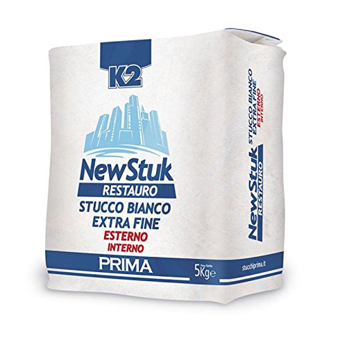 Stucco in polvere bianco extra fine interno esterno NEW STUK RESTAURO 5kg K2