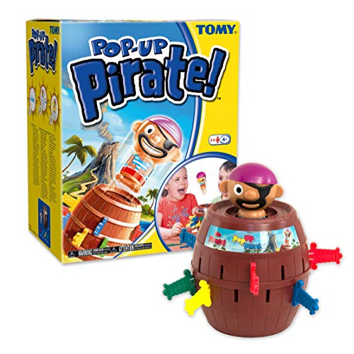 TOMY Pop Up Pirate Classic Children's Action Board Game, Family & Preschool Kids Game, Action Game for Children 4, 5, 6, 7, 8 Year Old Boys & Girls & Adults