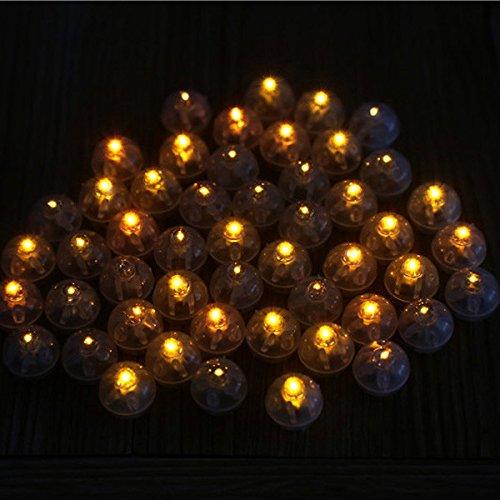Bluelover 25 stuks 1,7 cm ronde LED ballon licht lamp glowing ballon lichten verjaardag bruiloft decoratie