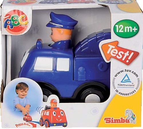 Simba 7494P - Press and Go Car Polizei, Polizeiauto