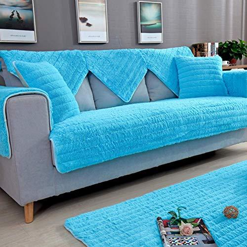 CHHD Fundas de sofá Fundas de cojín de sofá seccionales, Antideslizantes, Protector de Muebles para 1 2 3 4 Cojines Funda de sofá para Mascotas para sofá-Gris 70X70cm (28x28inch)