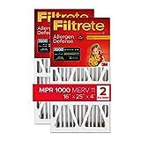 Filtrete 16x25x4, AC Furnace Air Filter, MPR 1000 DP, Micro Allergen Defense Deep Pleat, 2-Pack (exact dimensions 15.88 x 24.56 x 4.2)