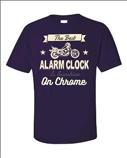 Funny Alarm Clock - Best is Sunshine On Chrome - Motorcycle Humor - Unisex T-Shirt