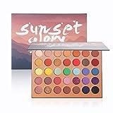 JASSINS 35 Colors Eyeshadow Palette,High Pigmented Eye Makeup Palette Glitter Matte Metallic Shimmer Eyeshadow Powder Blendable Sweatproof and Waterproof Long Lasting