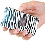Monster Stun Gun Rechargeable Stun Gun with LED Flashlight, 18,000,000-Volt (Zebra Black/White)