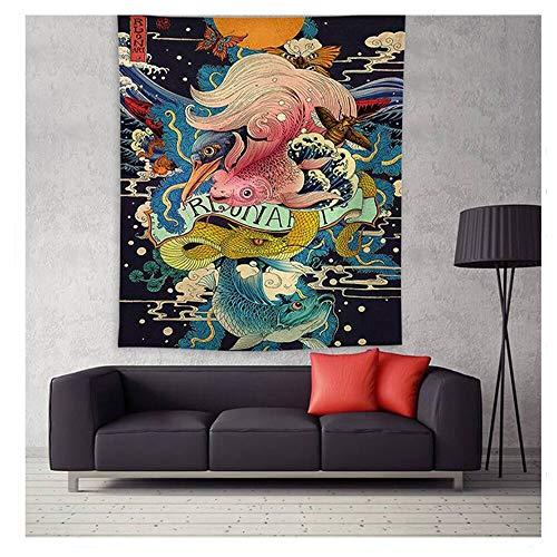 AQgyuh Puzzle 1000 Teile Kunstmalerei japanische abstrakte Fischmalerei Puzzle 1000 Teile er Erwachsene Familienspiel für Kinder Erwachsene Great Holiday Leisure , Interaktive Famil50x75cm(20x30inch)