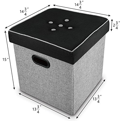 Ikee-Design-Linen-Storage-Ottoman-Cube-Folding-Foot-Rest-Stool-Seat-for-Storage