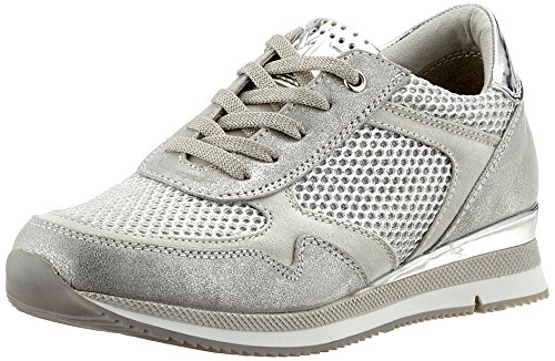 Marco Tozzi Damen 23701 Sneaker, silber (silver comb), 38 EU