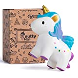 NUTTY TOYS Super Slow Rising Scented Jumbo Unicorn Squishy - Unique Stocking Stuffer Present Idea for Christmas 2020, Best Kids & Adults Birthday Gifts & Top Party Favor for Boys Girls Teens & Tweens
