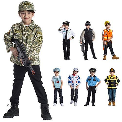 Dress Up America Finto Costume di Gioco dell'Esercito per Bambini, Multicolore, Taglia unica-3-6 anni, 831