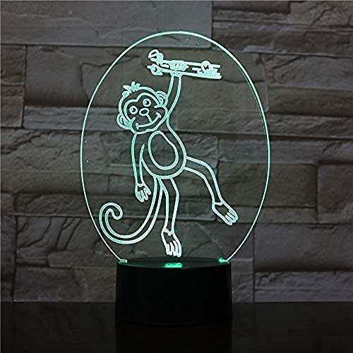 3D Night Light Monkey 3D Lamp USB Touch Sensor Lighting Child Kids Baby Gift Gadget Monkey Led Night Light