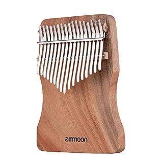 ammoon 17鍵カリンバ 17キー 17 keys 親指ピアノ 17キー 音指ピアノ カリンバパーツ 専用バッグ付き ギフト