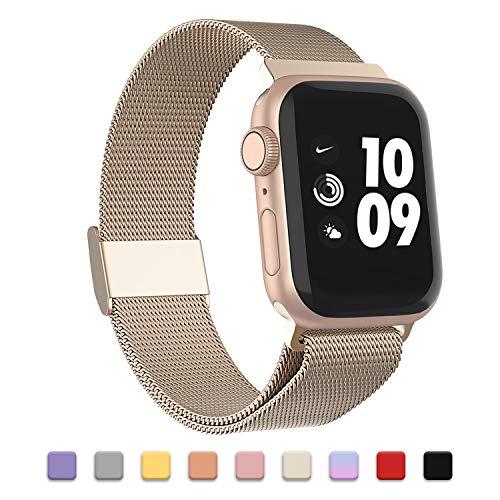 Adepoy Compatibile per Apple Watch Cinturino in Metallo, Cinturini di Ricambio magnetici in Acciaio Inossidabile compatibili con iwatch 38mm 40mm 42mm 44mm e Serie 5, 4, 3, 2, 1