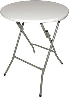 Bolero CA998 Table ronde pliante 735 x 600 mm pour restaurant, bar, café, salleà manger commerciale, blanc