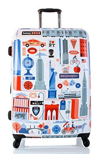 Koffer, Reisegepäck, Trolley by Heys - Premium Designer Hartschalen Koffer - Künstler Fernando Cities Koffer mit 4 Rollen Gross