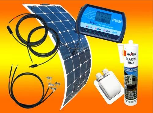 bau-tech Solarenergie 100 Watt Flexi Wohnmobil Camping Solaranlage,...