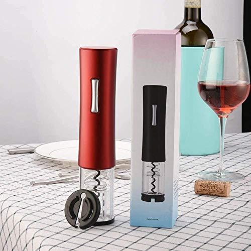 Novedad Sacacorchos Eléctrico para Vino Tinto Cortador de Láminas Abrelatas de Vino Tinto Eléctrico Abrebotellas Accesorios de Cocina Abrebotellas Cocina (Color : Red)